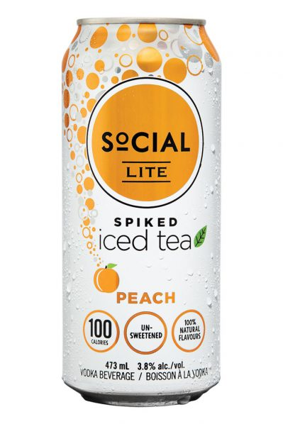 Social Lite - Vodka and Peach Tea - 24 Pack