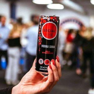 Social Lite - Vodka Field Strawberry