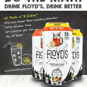 Floyds Spiked Tea - 355ml Can