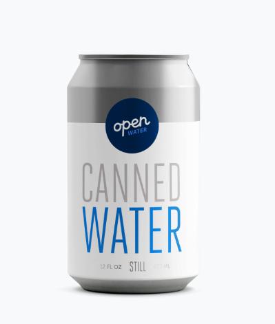 Open Water - Premium Aluminum Still Canned Water (12oz Bottles - 355ml)