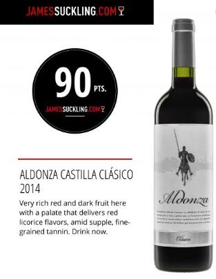 Aldonza Clasico Red 2014 (James Suckling 90 Points)