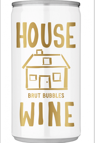 House Wine Brut Mini Cans - 187ML