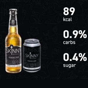 Skinny Beer - Premium Lager 330ML Cans