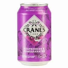 Cranes Cider - Raspberries & Pomegranates 330 ML Cans