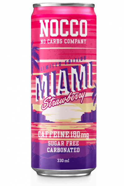 Nocco Energy Drink - Miami Strawberry (BCAA and Sugar Free)