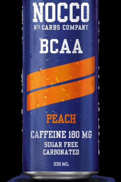 NOCCO BCAA Energy Drink - Peach (BCAA's & Caffeinated)