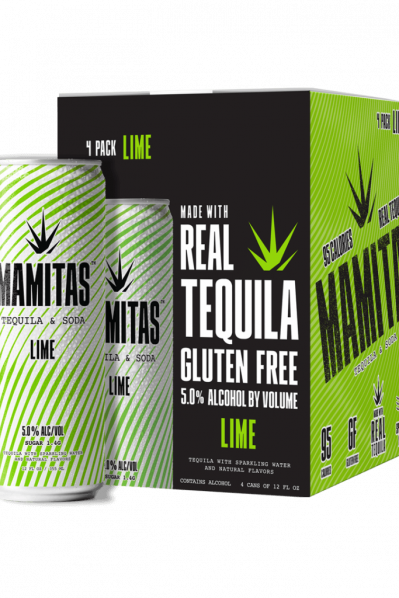 Mamitas Tequila Soda - Lime (Gluten free pick and 95 Calories)
