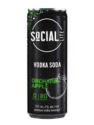 Social Lite - ORCHARD APPLE VODKA SODA